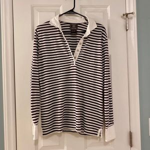 Ariat long-sleeved striped polo, XL